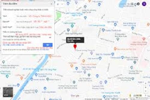 cách đưa địa chỉ lên google map