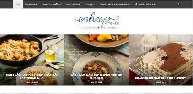 Trang web dạy nấu ăn ngon online Esheep Kitchen