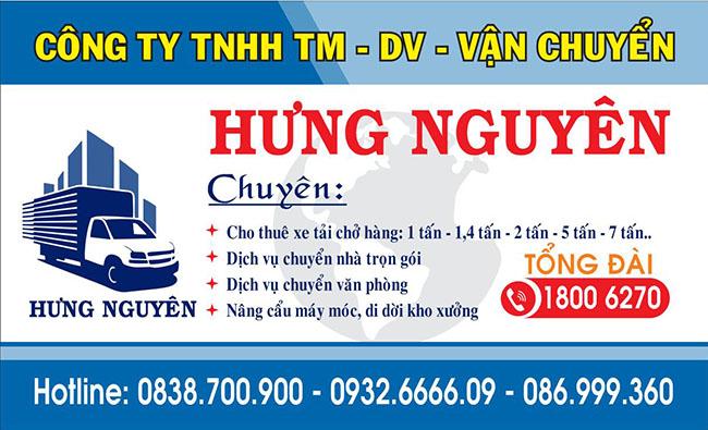 Công ty TNHH DV xây dựng vận chuyển Hưng Nguyên